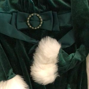 Dresses - Little Girls Christmas Dress Faux Fur Holiday